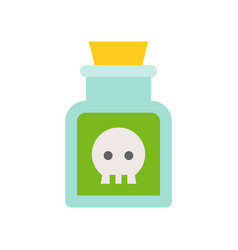 Poison in jar black magic halloween related icon vector