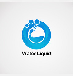 Pure water liquid logo concept icon element and vector