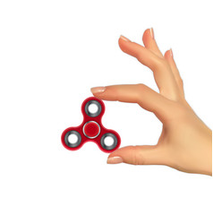 realistic 3d silhouette of hand with spinner vector image