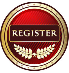 register gold icon vector image