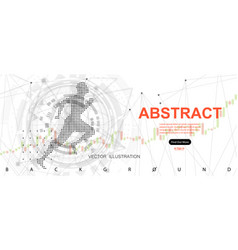 running man concept of man and technology vector image