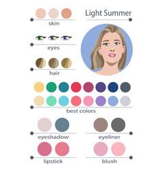 Seasonal color analysis palette for light summer vector