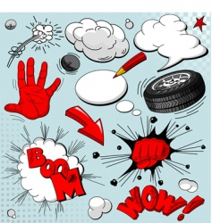 set of comic book explosions vector image vector image