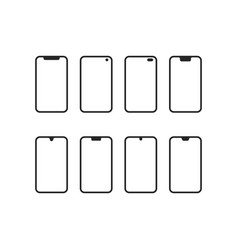 set phones with different notches vector image