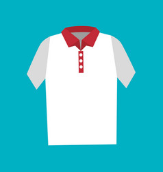 Shirt fashion isolated icon vector