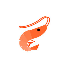 shrimp logo icon isolated on white background vector image