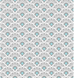 stylized asian retro seamless pattern with flowers vector image