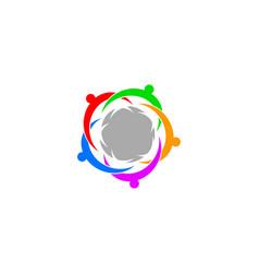 team work logo design template vector image