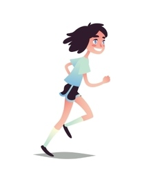 Teen Girl Running vector image