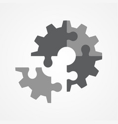 the final piece of puzzle vector image