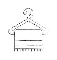 towell hangin in wire hook vector image