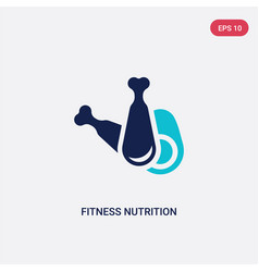 Two color fitness nutrition icon from gym and vector