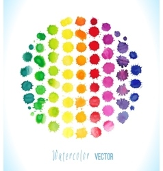 Watercolor splashes isolated vector