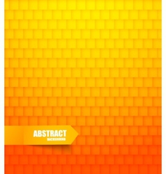 Abstract orange tiled background vector image