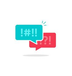 argue chat bubbles icon argument messages vector image