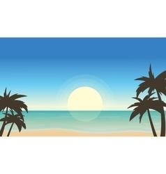 Beach landscape of art vector
