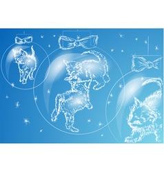 Christmas kittens vector image