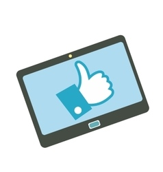Like tablet flat icon vector image