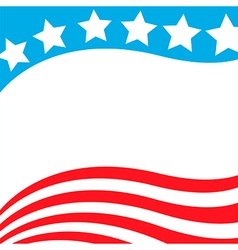 patriotic background usa flag vector image vector image