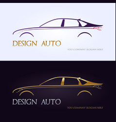 set of modern premium car silhouettes isolated vector image