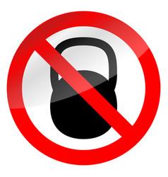 sign ban weights vector image vector image