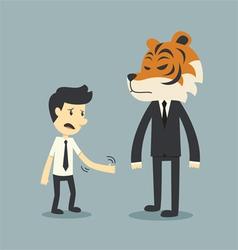 tiger risk vector image vector image