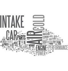 why not a cold air intake text word cloud concept vector image vector image