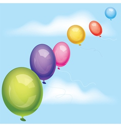 balloons in the sky vector image vector image