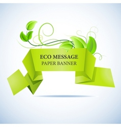 paper banner vector image