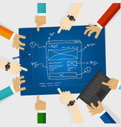 ui or user interface and ux or user experience vector image vector image