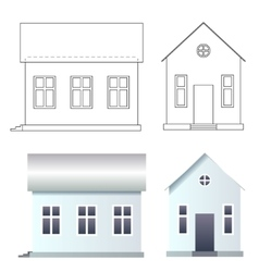 Blank house made of bricks vector