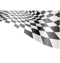 checkered flag wave white race championship vector image