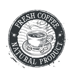 coffee cup logo design template cafe or vector image