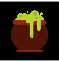 flat icon on background halloween witches cauldron vector image vector image