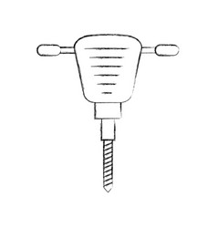 hydraulic hammer isolated icon vector image