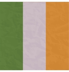 Ireland flag painted by brush hand paints art vector