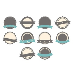 Set of badges labels and logo template vector image