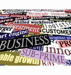 Business headlines vector