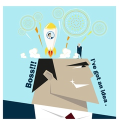Business Idea series Business Team 5 concept vector image vector image