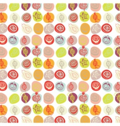 exotic fruits pattern vector image vector image