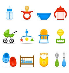 Icon Set Baby Care vector image