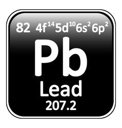 Periodic table element lead icon vector