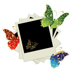 Pile of photos insert your pictures vector image