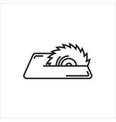 saw icon on white background vector image