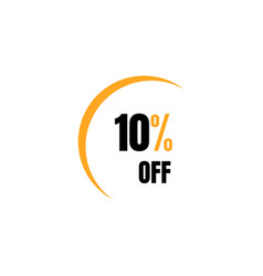10 off sale 10 discount special price offer vector image