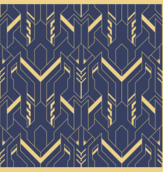 Abstract blue art deco seamless pattern 14 vector