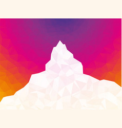 abstract white geometric mountain on color vector image