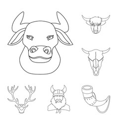 antler and animal sign vector image