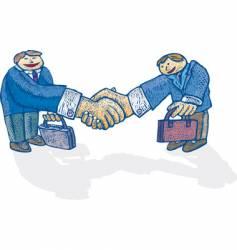 Big handshake vector