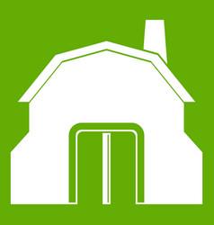 blacksmith workshop building icon green vector image